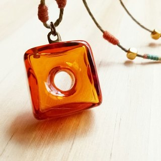 Brown Cube Essential Oil Bottle Necklace