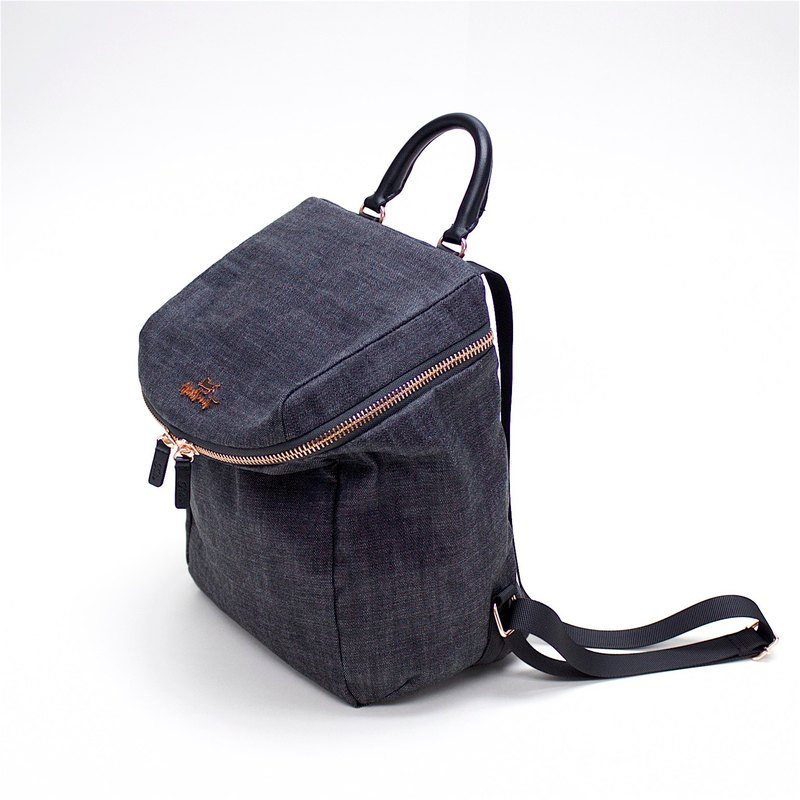 Aristocat Denim Mini Backpack / Black , Blue