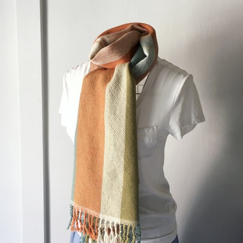 [Unisex Scarf] Green & Orange Mix