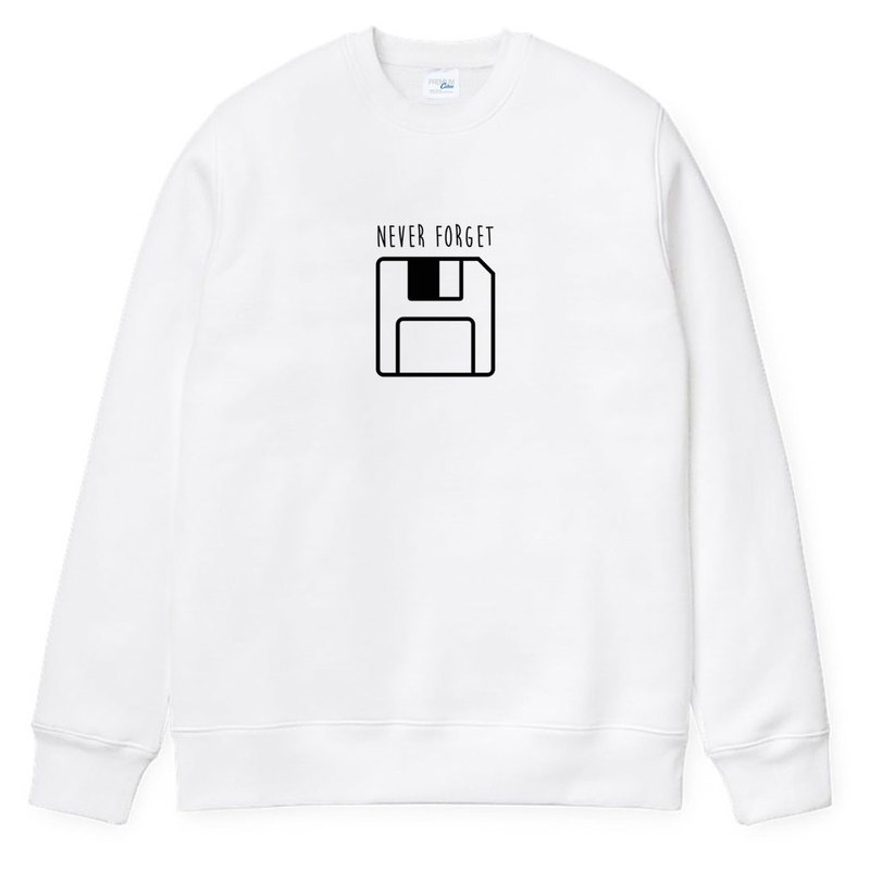 Never Forget Floppy unisex white sweatshirt