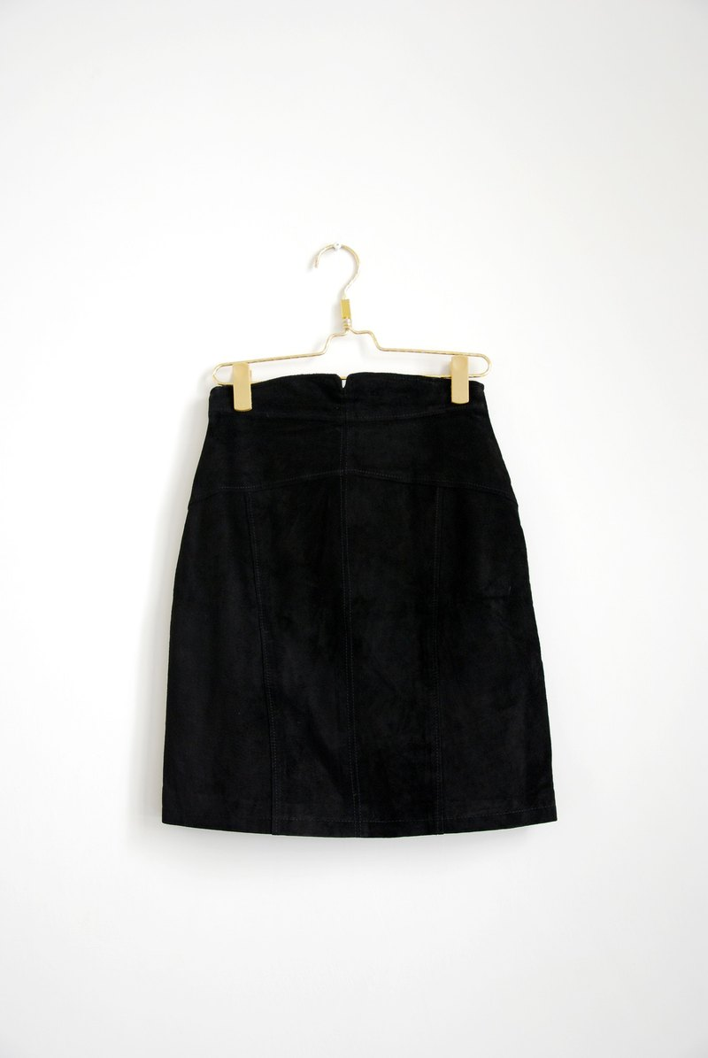 Pumpkin Vintage. Ancient leather skirt