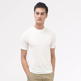 Copper ammonia comfortable round neck Tee - white