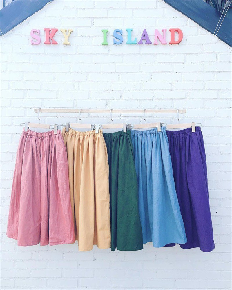 Rainbow Day Round Skirt - Big Girl (Mom)