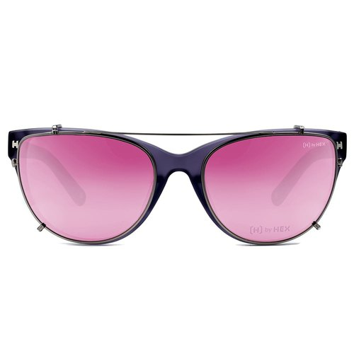 Optical with front hanging sunglasses | Sunglasses | Purple | Made in Taiwan