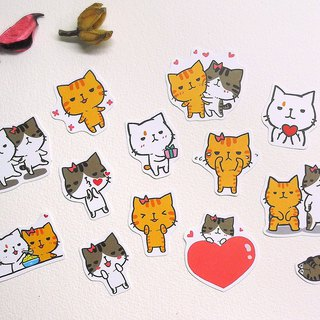 Brave Cat Small Waterproof Sticker Set