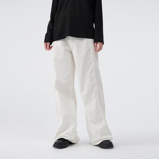 wide leg trousers with adjustable drawcords