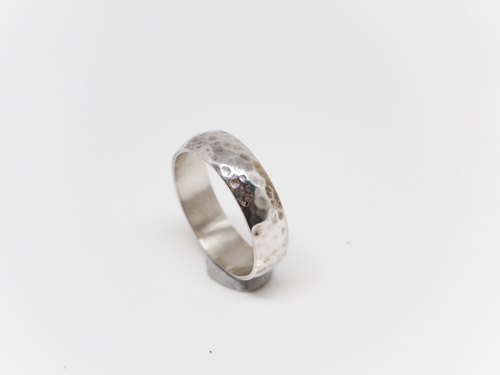 """Ping Design"" feel the sense of knocking texture sterling silver hand ring silver ring pendant"