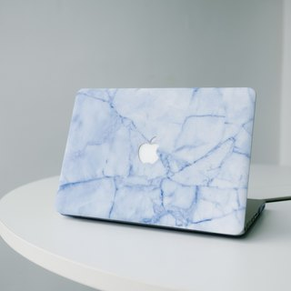 Original Ice-snow Blue  Real Marble Macbook case with hard shell back case