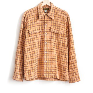 Vintage three-dimensional plaid vintage neutral shirt