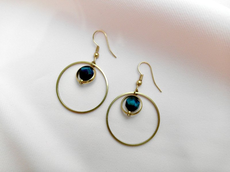 Artemis - Brass Ore Earrings