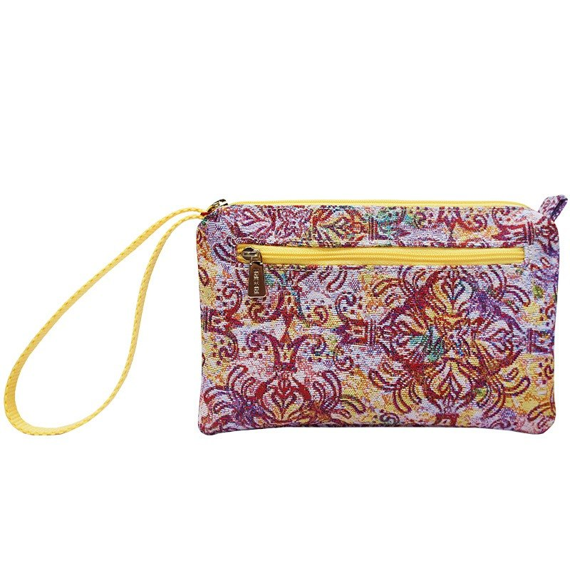 Jacquard weave clutch Videos multifunction queen yellow flower