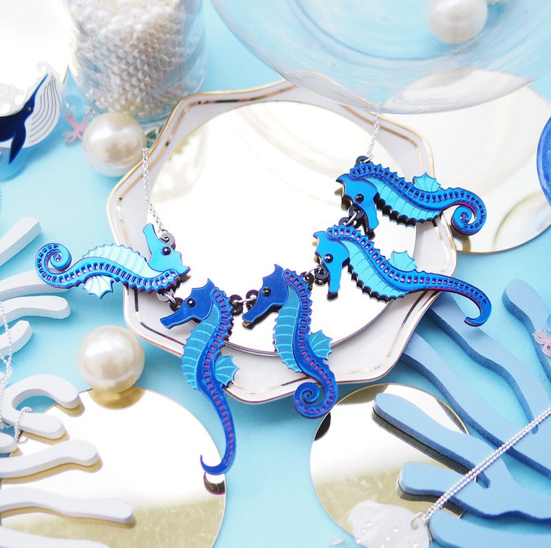 Sea Horse Statement Necklace
