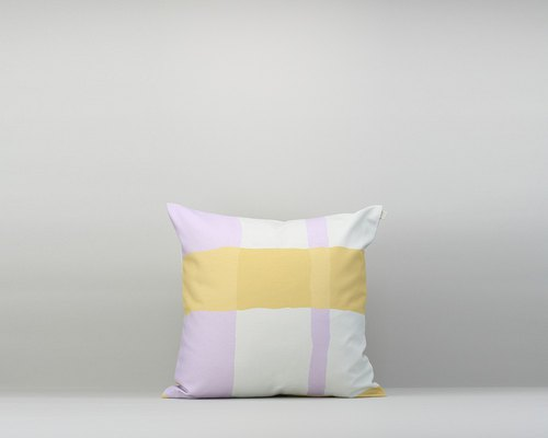 Pillow cover / waterproof paint / yellow purple / with pillow