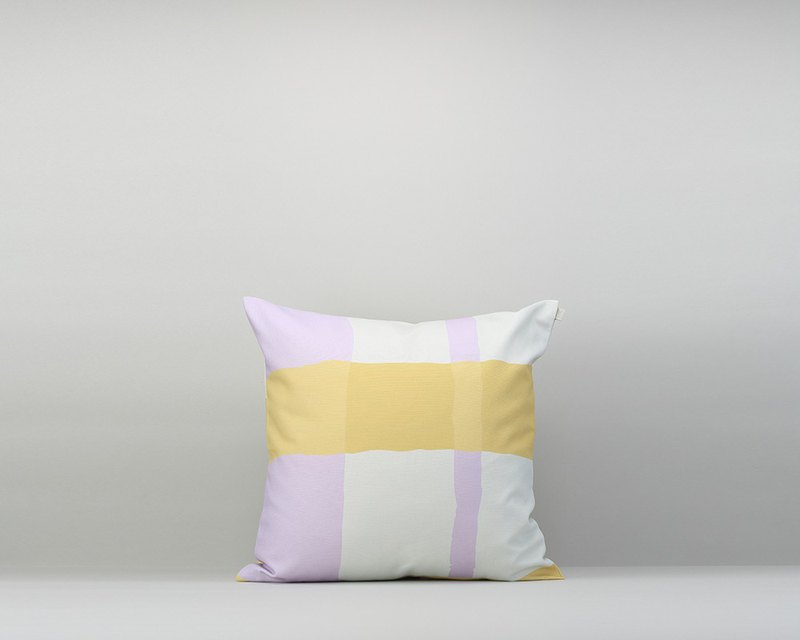 Pillowcase / waterproof paint / yellow-purple / without pillow