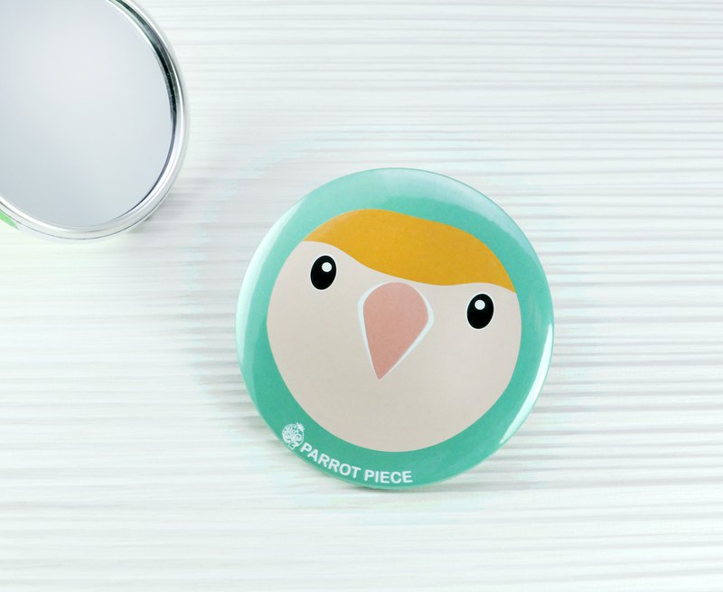 Peach Parrot 75mm Portable Mirror