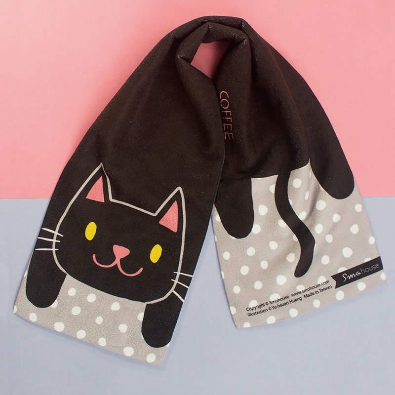 Illustration Towel: Fun World Series Black Cat Brothers