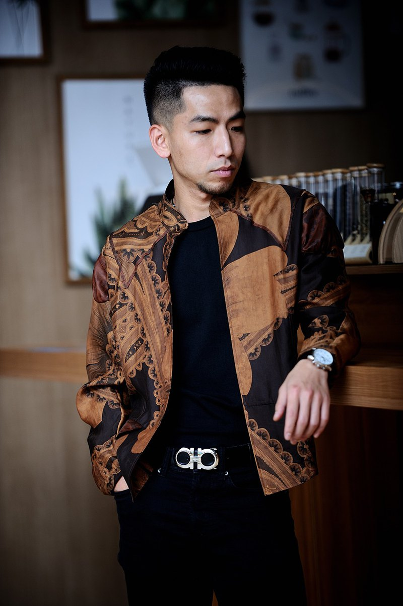 2019 new Xiangyun yarn art fan jacket