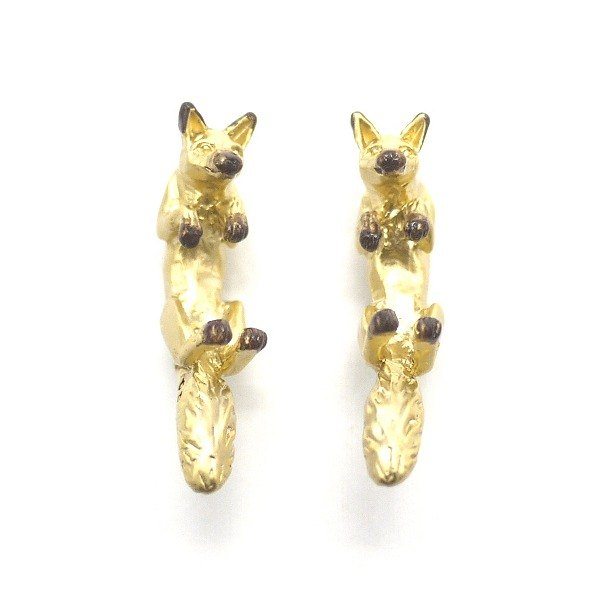Fox knob earrings PA 379