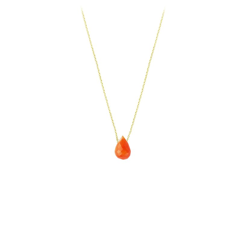 Classic Red Agate Drop Necklace 10MM Cornelian Drop CLASSIC