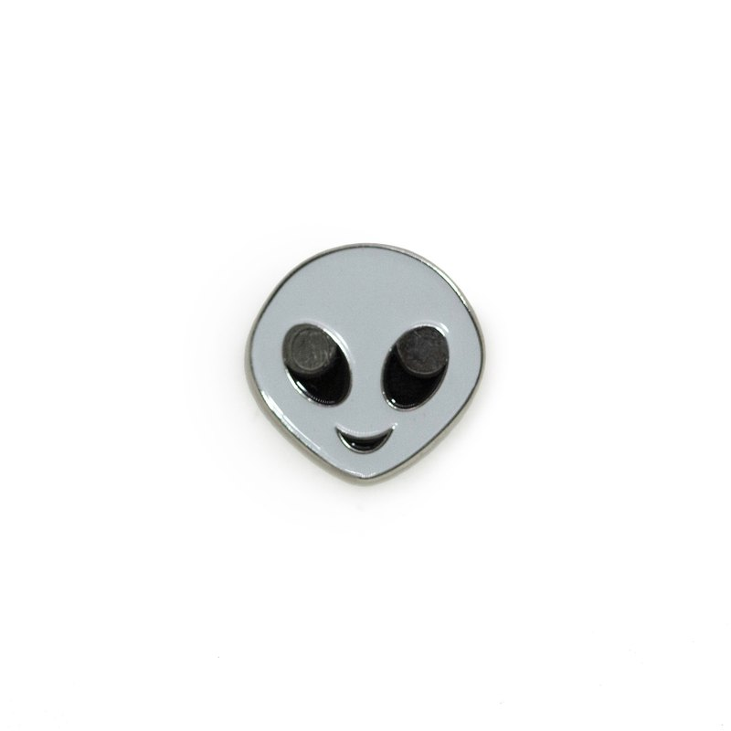 White Alien Pin