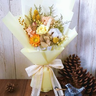 | Fruits of Midsummer | No Withering Roses. Dry flowers. Graduation bouquet. Standing bouquet. Yellow line