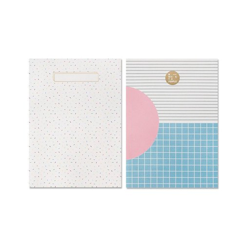 BNTP PUR upside down flip double cover notebook A5 - colorful white, BNP81666