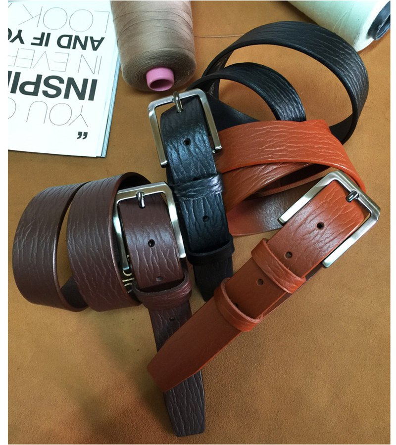 Vegetable tanned cowhide cowhide leather belt belt for men and women