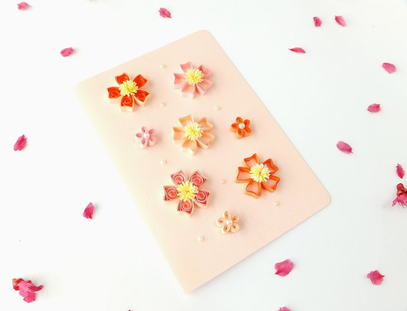 Hand made decorative cards-Cherry blossoms