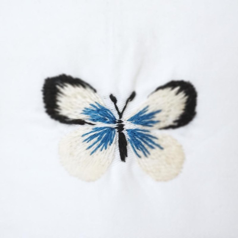 Premium Hand Embroidered Fragrance Bag - Glass Blue Butterfly (Free with cotton pillowcase)