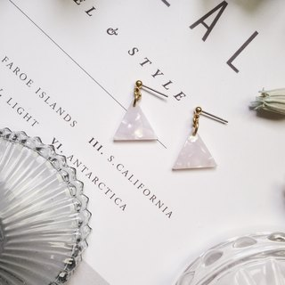 La Don - Stone Triangle - White Ear / Ear Clips