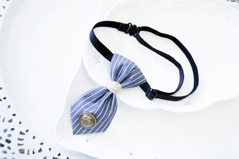Striped blue little tie