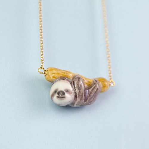 Sloth handmade necklace