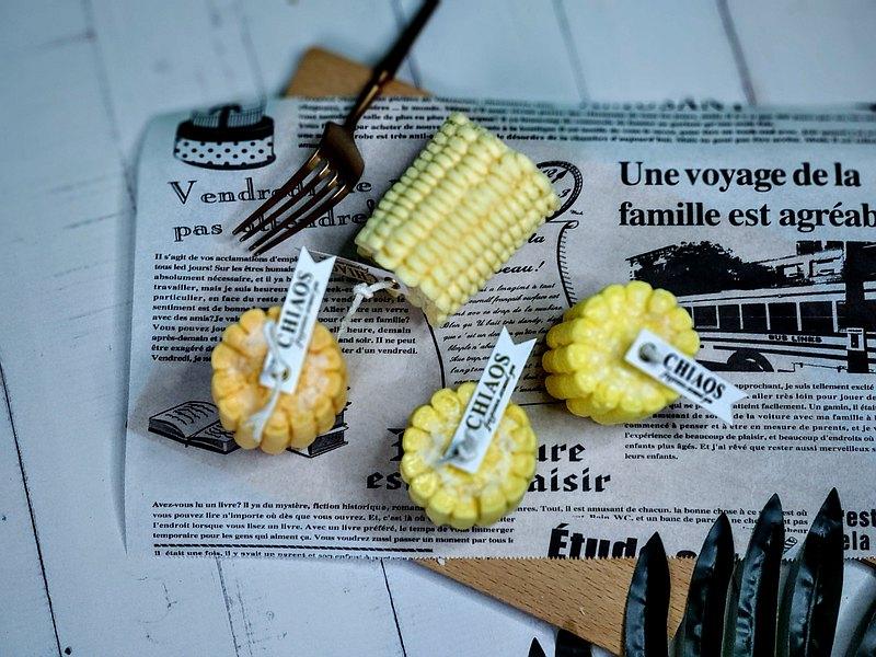 玉米蠟燭/食物/擬真/交換/禮物/香氛