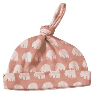 100% Organic Cotton Polar Bear Baby Cap Made in the UK