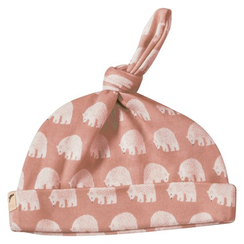 100% organic cotton polar bear baby tweeted cap made in the UK
