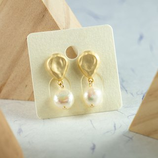 Edith & Jaz • Balloon Freshwater Baroque Pearl Earrings