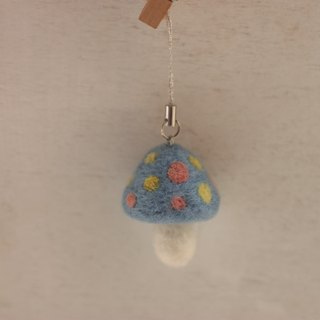 Natural plant dyed mushroom mobile phone accessories light blue blue dyed, sedge, silk flower is currently in stock