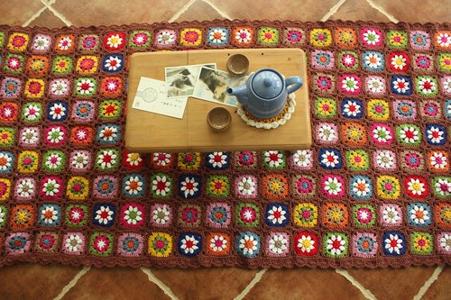 Forest Department Sofa Blanket Hook Flower Pastoral Country Style Fresh Mosaic Table Cloth Table Flag Table Cloth Tea Table Cloth