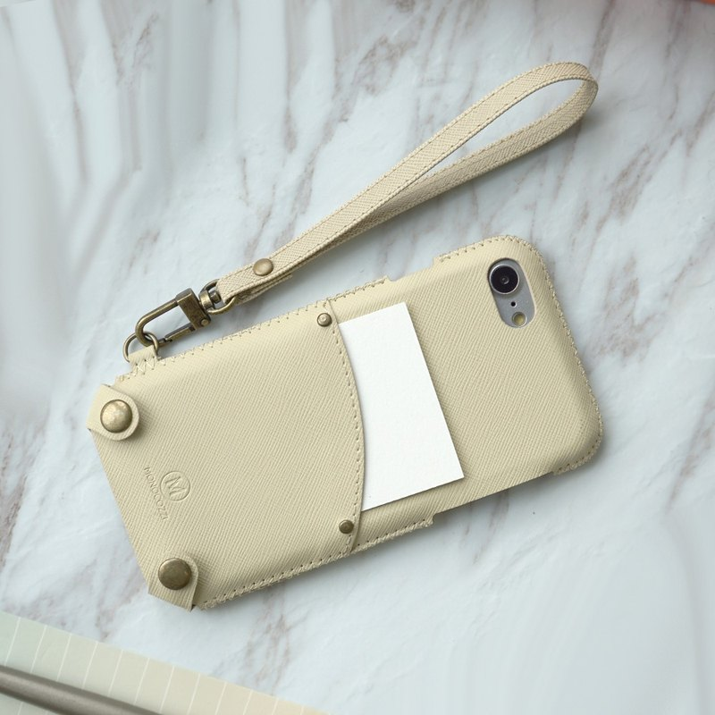 Posh | Soft PU Leather Pouch with strap for iPhone 7/8