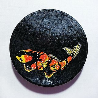 Healing hand-painted ceramic plate (Birthday / Memorial / New Year / Christmas / Valentine / Mother / Father's Day) - Lucky Gem in water (14cm)