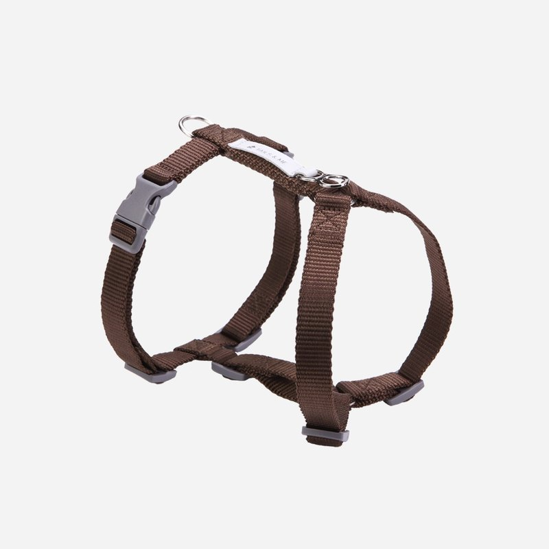 [Tail and me] Classic nylon belt chest strap with dark brown L