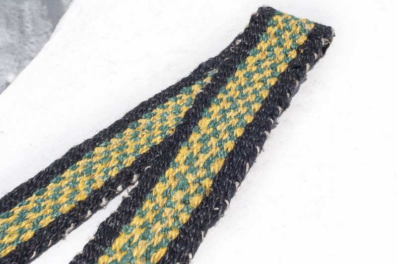 Valentine's Day Boyfriend Gift Woven Cotton Belt/Knitted Belt - Tropical African Colorful Geometric Green