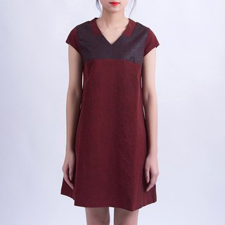 Ancient red ancient heavy silk silk dress