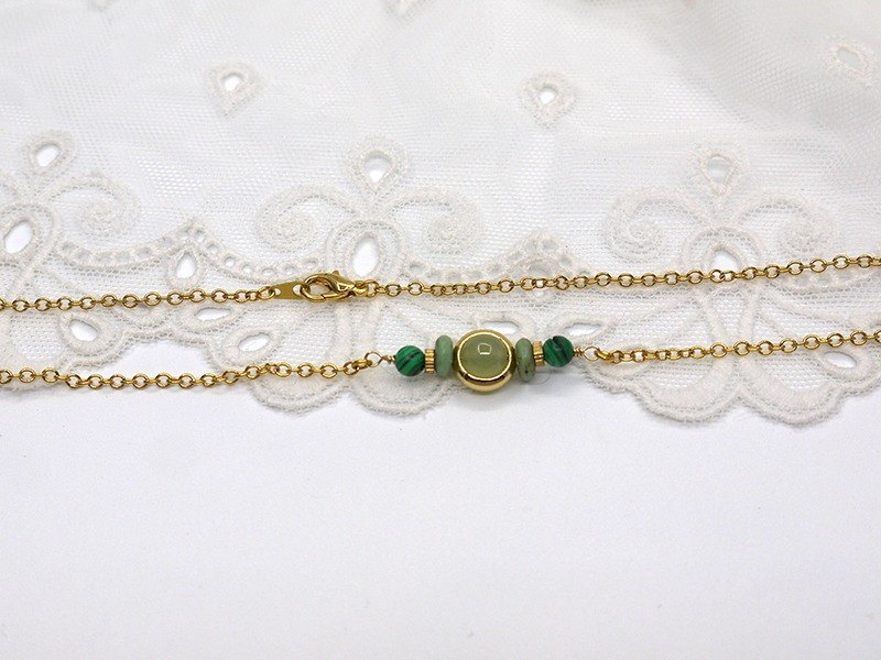 Riitta hand-made grape agate necklace malachite