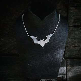 Demon Bat Imprint 925 Silver Clavicle Chain - Halloween Tricks 1.5