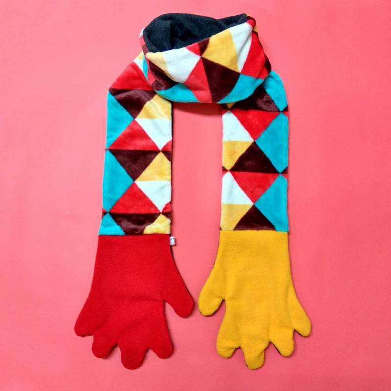 Mr.WEN  Gloves scarf –Kaleidoscope