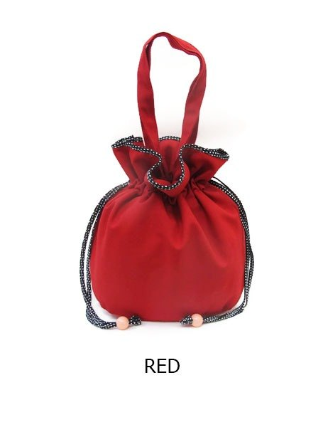 Thailand Motta Design - Girls Japanese style trim little bag and inside (red)