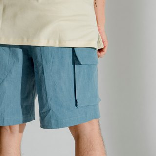 Hao Denim Pocket Shorts Washed Denim Pocket Shorts