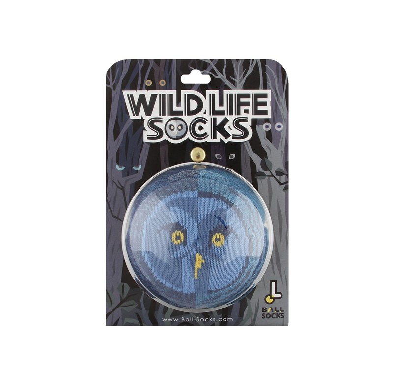 Wildlife socks _ owl Great Grey Owl