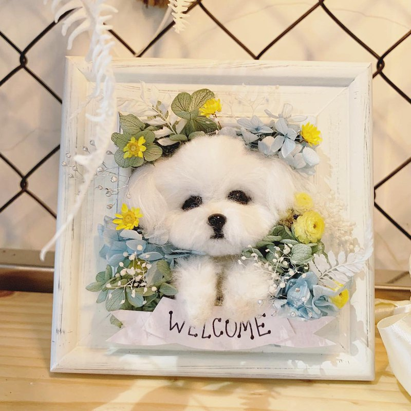 Customized wool felt - eternal flower photo frame